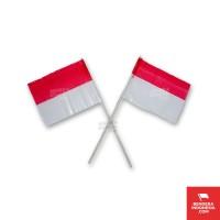 Bendera Plastik Merah Putih Dengan Gagang