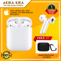Apple AirPods Gen 2 with Charging Case (NON Wireless) Free Case