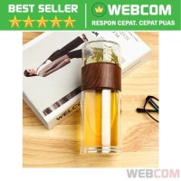 Botol Minum Penyaring Teh Infuser Double Wall 230ml Infuse Bottle Tea