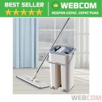 Alat Pel Set Magic Mop Flat Microfiber Dengan Bucket Washing Tools Set