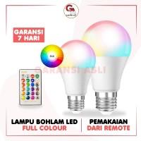 LAMPU BOHLAM LED RGB 3 WATT DAN 10 WATT DILENGKAPI REMOTE BISA COD - 3 WATT
