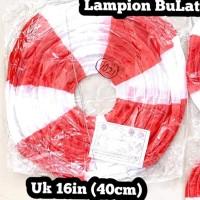 Hiasan 17 agustus / lampion merah putih uk 16in 40cm/ Lampion 17 an