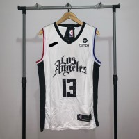 Jersey Basket Swingman NBA Los Angeles Clippers Paul George city putih