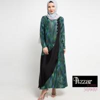 AZZAR Rane Maxi Dress In Blue Purple Abstract Print