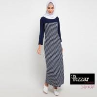 AZZAR Navit Maxi Dress In Navy Print