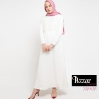 AZZAR Emma Maxi Dress In Off White With Lace