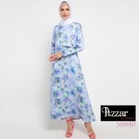 AZZAR Eris Maxi Dress In Blue Print