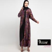 AZZAR Rane Maxi Dress In Pink Purple Abstract Print