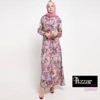 AZZAR Tyra Maxi Dress In Brown Floral print