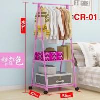 Triangle Stand Hanger Gantungan Rak Baju Tas Buku Serbaguna Multifungs