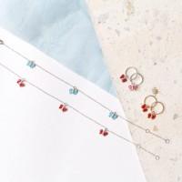 Keykana Baby Jewelry 14K Real Italy Gold - Gelang Kupu 3 Enamel