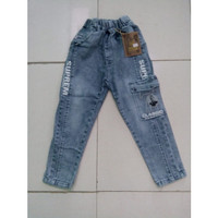 Celana Panjang Jeans Anak Laki Laki Umur 6 - 7 - 8 - 9 Tahun