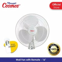 cosmos 16 wfcr wallfan remote kipas dinding 16in