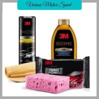 3M Paket Hemat Cuci Mobil(Premium Car Wipe, Smart Sponge, car wash)VMS