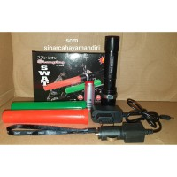 Senter led swat police 2 lampu lalin / 2 cone