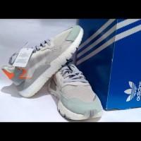 Sepatu Adidas Boost Nite Jogger White not Nike Puma New Balance
