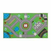 STORABO Karpet anak hijau / karpet track mobil