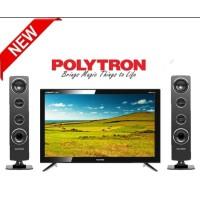 POLYTRON 24T1850 LED TV CINEMAX 24 INCH + SPEAKER TOWER ( PROMO )