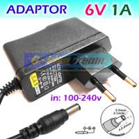Adaptor 6v 1A DC in: 220V AC Power Supply Timbangan Tensi Intercom Aki