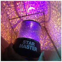 Lampu Tidur Mini Proyektor Starmaster Tanpa Musik Motif Bulan Bintang