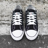 Sepatu Sekolah Convers All Star Sepatu sneakers kets Pria Murah HITAM