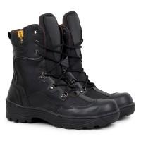 Sepatu boot Pria Crocodile Indikators Tinggi Sepatu Safety PDL Hitam