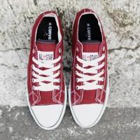Sepatu Convers All Star Sepatu Sneakers Pria Sekolah kerja Murah Merah