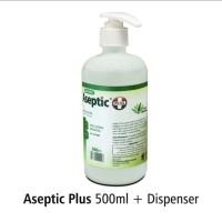 Handsanitizer Cair Onemed 500ml Pump Aseptic Cair + Pelembut Aloevera