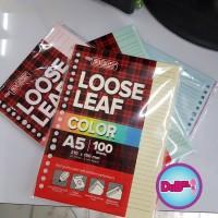 Isi Binder A5 / Kertas File A5 / Loose Leaf A5 Bigboss 100 lbr Warna