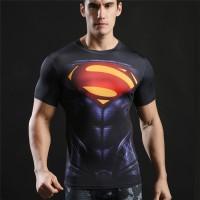 Kaos T-Shirt Compression Warna Hitam untuk Fitness / Gym