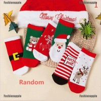 Faid Kaos Kaki Natal Bahan Katun untuk Anak Laki-laki / Perempuan