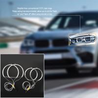 BC - Lampu LED Angel Eyes Halo Ring Warna Putih/Kuning untuk BMW E46