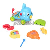Baby Music Toys Musical Instrument Set(5 in 1), Cartoon Elephant