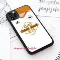 Casing hard case iPhone White Swansea City Logo 11 X Xs 8 7 6 6s Pro M