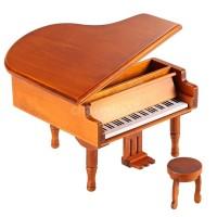 Mainan Kotak Musik Piano Kayu Klasik Melody untuk Hadiah Anak