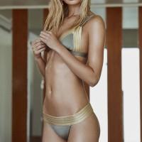 Emas Tambal Sulam Bikini Set Pakaian Renang Untuk Wanita Baju Renang