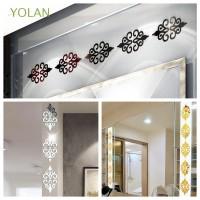 Yolan 10Pcs / Set Stiker Dinding Cermin Untuk Dekorasi Ruang Tamu