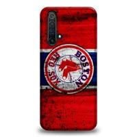 Hardcase Casing Realme X50 Boston Red Sox Grunge Baseball Clu