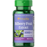 Puritan s Pride Bilberry Fruit Extract 1000 mg - 90 Softgels