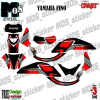 Decal stiker desain bebas yamaha FINO full body