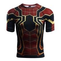 Kaos T-Shirt Compression Motif Spiderman untuk Fitness / Gym