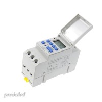 AC 220V Din Rail Weekly LCD Programmable Timer Switch Time Relay