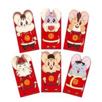 6Pcs / Set Amplop Angpao Tahun Baru Imlek Imlek / Tahun Baru Cina