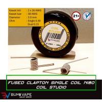 Fused Clapton Single Coil Authentic Nichrome 80 / Ni80 by Coil Studio