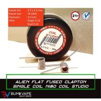 Alien Flat Fused Clapton Single Coil Nichrome 80 / Ni80 by Coil Studio