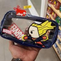 Promo Miniso Captain Marvel Cute Tas Kosmetik Pouch Dark Blue