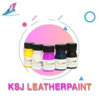 Cat sepatu bahan kulit Ksj leather Paint