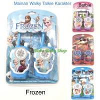 M160 Mainan Walkie Talkie Karakter Anak Disney Frozen Cars Barbie PAW