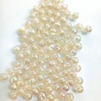 Manik-manik plastik bola cream bening pelangi 6mm (18gr)