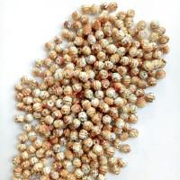 Manik-manik plastik bulat gold glitter 4mm (17gr)